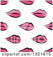 Clipart Of A Seamless Background Pattern Of Pink Lips 2 Royalty Free Vector Illustration by Vector Tradition SM