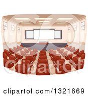 Clipart Of A Lecture Hall Interior Royalty Free Vector Illustration