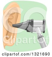 Clipart Of An Otoscope By An Ear Royalty Free Vector Illustration by BNP Design Studio