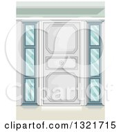 Clipart Of A Stylish Door With Side Windows Royalty Free Vector Illustration by BNP Design Studio