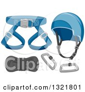 Clipart Of Safety Gear For Mountain Climbing Royalty Free Vector Illustration