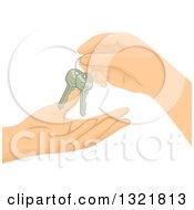 Hands Exchanging Keys