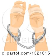 Clipart Of Cuffed Hands Royalty Free Vector Illustration by BNP Design Studio