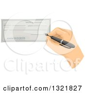 Hand Signing A Blank Check