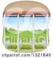 Clipart Of A Golf Driving Range Royalty Free Vector Illustration
