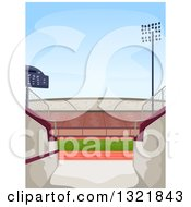 Clipart Of A Stadium Entrance Royalty Free Vector Illustration