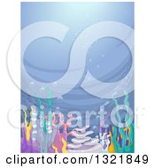 Clipart Of A Colorful Reef On The Ocean Floor Royalty Free Vector Illustration by BNP Design Studio