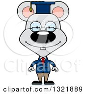 Clipart Of A Cartoon Happy Mouse Professor Royalty Free Vector Illustration