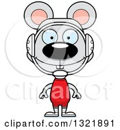 Clipart Of A Cartoon Happy Mouse Wrestler Royalty Free Vector Illustration