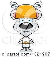 Clipart Of A Cartoon Happy Mouse Hermes Royalty Free Vector Illustration