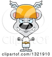 Clipart Of A Cartoon Mad Mouse Hermes Royalty Free Vector Illustration