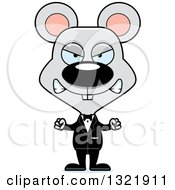 Clipart Of A Cartoon Mad Mouse Groom Royalty Free Vector Illustration