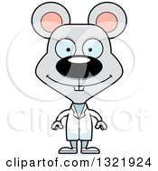 Clipart Of A Cartoon Happy Mouse Doctor Royalty Free Vector Illustration