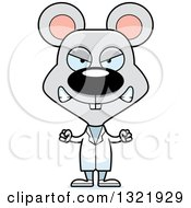 Clipart Of A Cartoon Mad Mouse Doctor Royalty Free Vector Illustration