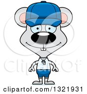 Clipart Of A Cartoon Happy Mouse Coach Royalty Free Vector Illustration