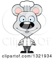 Clipart Of A Cartoon Happy Mouse Chef Royalty Free Vector Illustration