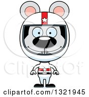 Clipart Of A Cartoon Happy Mouse Race Car Driver Royalty Free Vector Illustration