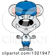 Clipart Of A Cartoon Mad Mouse Coach Royalty Free Vector Illustration