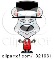 Clipart Of A Cartoon Mad Mouse Circus Ringmaster Royalty Free Vector Illustration