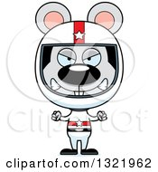 Clipart Of A Cartoon Mad Mouse Race Car Driver Royalty Free Vector Illustration