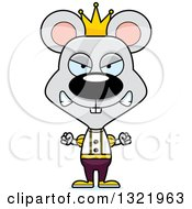 Clipart Of A Cartoon Mad Mouse Prince Royalty Free Vector Illustration