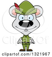 Clipart Of A Cartoon Happy Mouse Robin Hood Royalty Free Vector Illustration