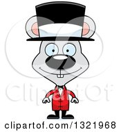 Clipart Of A Cartoon Happy Mouse Circus Ringmaster Royalty Free Vector Illustration
