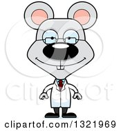 Clipart Of A Cartoon Happy Mouse Scientist Royalty Free Vector Illustration