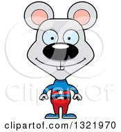 Clipart Of A Cartoon Happy Mouse Super Hero Royalty Free Vector Illustration