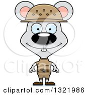 Clipart Of A Cartoon Happy Mouse Zookeeper Royalty Free Vector Illustration