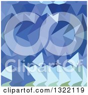 Clipart Of A Low Poly Abstract Geometric Background Of Brandeis Blue Royalty Free Vector Illustration