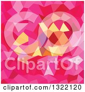 Clipart Of A Low Poly Abstract Geometric Background Of Brink Pink Royalty Free Vector Illustration