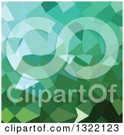 Clipart Of A Low Poly Abstract Geometric Background Of Dartmouth Green Royalty Free Vector Illustration