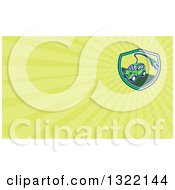 Retro Cartoon Hybrid Electric Car With A Plug In A Circle And Pastel Green Rays Background Or Business Card Design