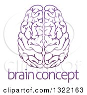 Clipart Of A Purple Human Brain Over Sample Text Royalty Free Vector Illustration