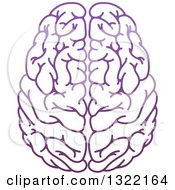 Clipart Of A Purple Human Brain Royalty Free Vector Illustration