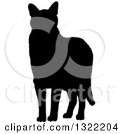Black Standing Cat Silhouette 2