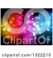 Clipart Of A Background Of Colorful Bokeh Flares On Black Royalty Free Vector Illustration by dero