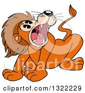 Cartoon Male Lion Roaring