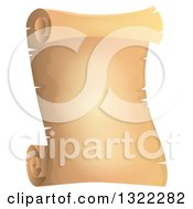 Clipart Of A Vintage Parchment Scroll Royalty Free Vector Illustration by visekart