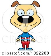 Clipart Of A Cartoon Happy Dog Super Hero Royalty Free Vector Illustration