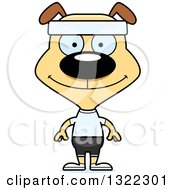Clipart Of A Cartoon Happy Fitness Dog Royalty Free Vector Illustration