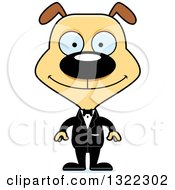 Clipart Of A Cartoon Happy Dog Groom Royalty Free Vector Illustration