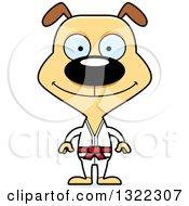 Clipart Of A Cartoon Happy Karate Dog Royalty Free Vector Illustration