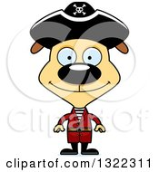 Clipart Of A Cartoon Happy Pirate Dog Royalty Free Vector Illustration