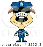 Clipart Of A Cartoon Happy Dog Police Officer Royalty Free Vector Illustration by Cory Thoman
