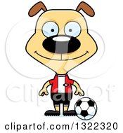 Clipart Of A Cartoon Happy Dog Soccer Player Royalty Free Vector Illustration