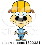Cartoon Happy Dog Construction Worker
