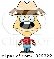 Clipart Of A Cartoon Happy Cowboy Dog Royalty Free Vector Illustration