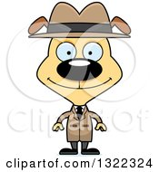 Clipart Of A Cartoon Happy Dog Detective Royalty Free Vector Illustration